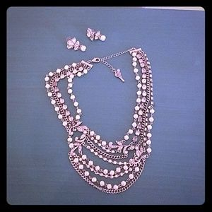 Betsey Johnson special occasion necklace set
